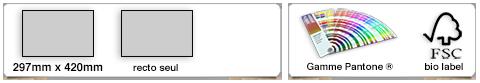 set de table publicitaire personnalisé format A3