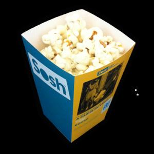 Petite boîte pour popcorn personnalisée en carton. Sosh