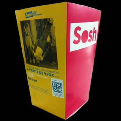 Boite à popcorn petit format en carton