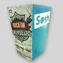 Petite boîte à popcorn personnalisée en carton. Sosh