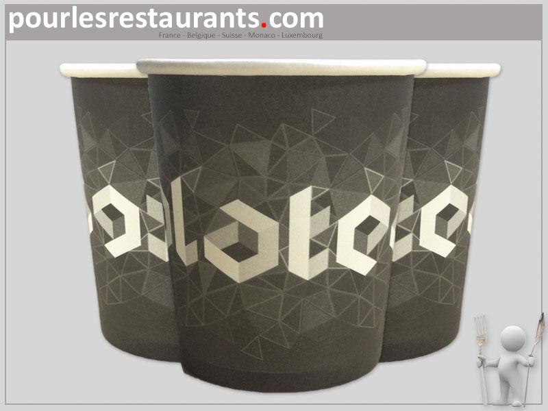 Bien-aimé Petit gobelets personnalisés de 10cl pour un café expresso. QK68