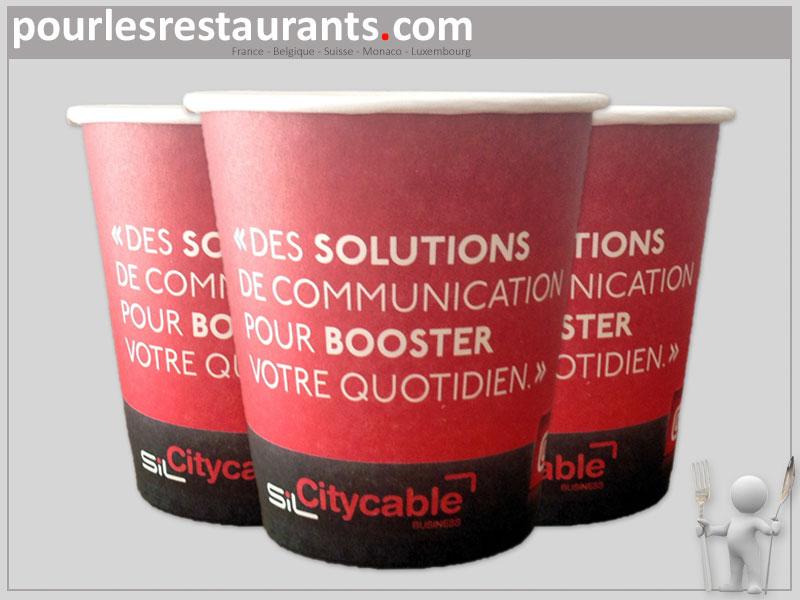 Très Petit gobelets personnalisés de 10cl pour un café expresso. AC18
