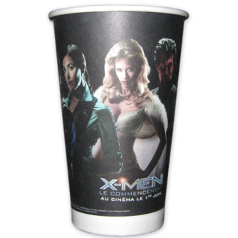 Gobelet en carton personnalisé. 45cl, X-Men : le commencement, Twentieth Century Fox