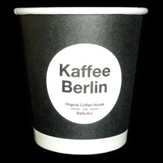Gobelet en carton personnalisé pour le café. 10cl, Kaffee Berlin