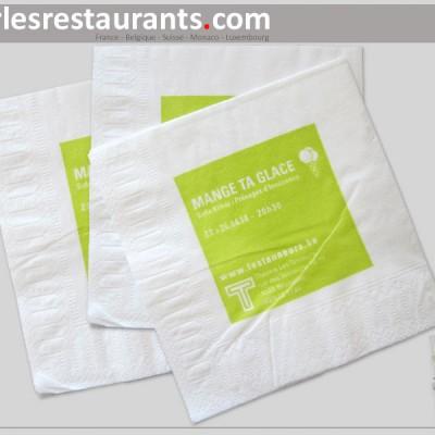 serviette papier personnalisée «cocktail»