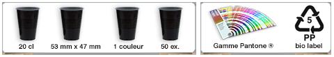 Gobelet réutilisable personnalisé d'une contenance de 20cl