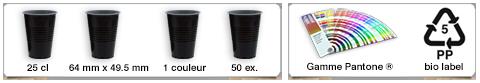 Gobelet réutilisable personnalisé d'une contenance de 25cl