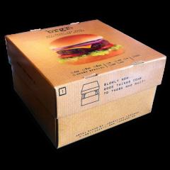 Boîte pour Hamburger «Flower Menu»
