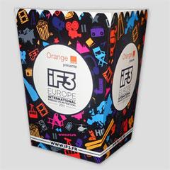 Boîte à popcorn grand format en carton