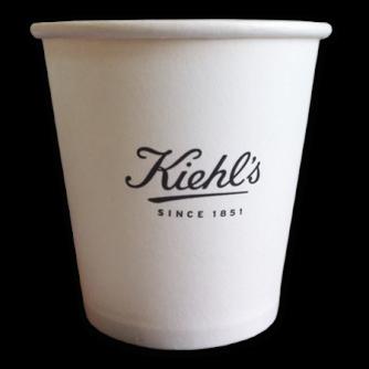 Gobelet en carton personnalisé pour le café. 10cl, Kiehl's