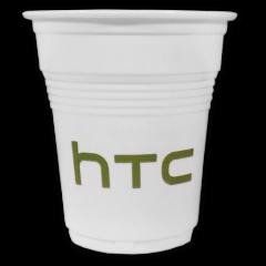 gobelet en plastique blanc strié (15cl)