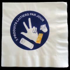 serviette papier personnalisée «snack»