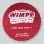 sous-bock en carton 1.4mm personnalisé. 103mm de diamètre, Wimpy