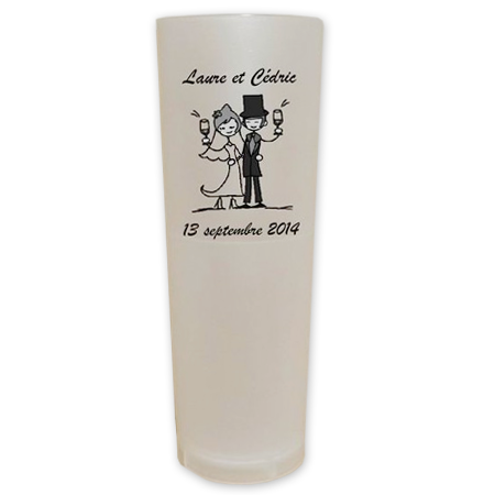 gobelet rutilisable et recyclable givr personnalis 20cl mariage - Gobelet Personnalis Mariage