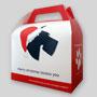 La boîte déjeuner lunch box recyclable en carton avec poignée, pour vos livraisons!