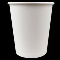 Lot de 100 gobelets en carton blanc de 20 cl pour un café latté
