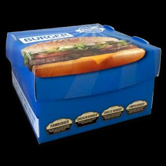 boîte pour hamburger personnalisée